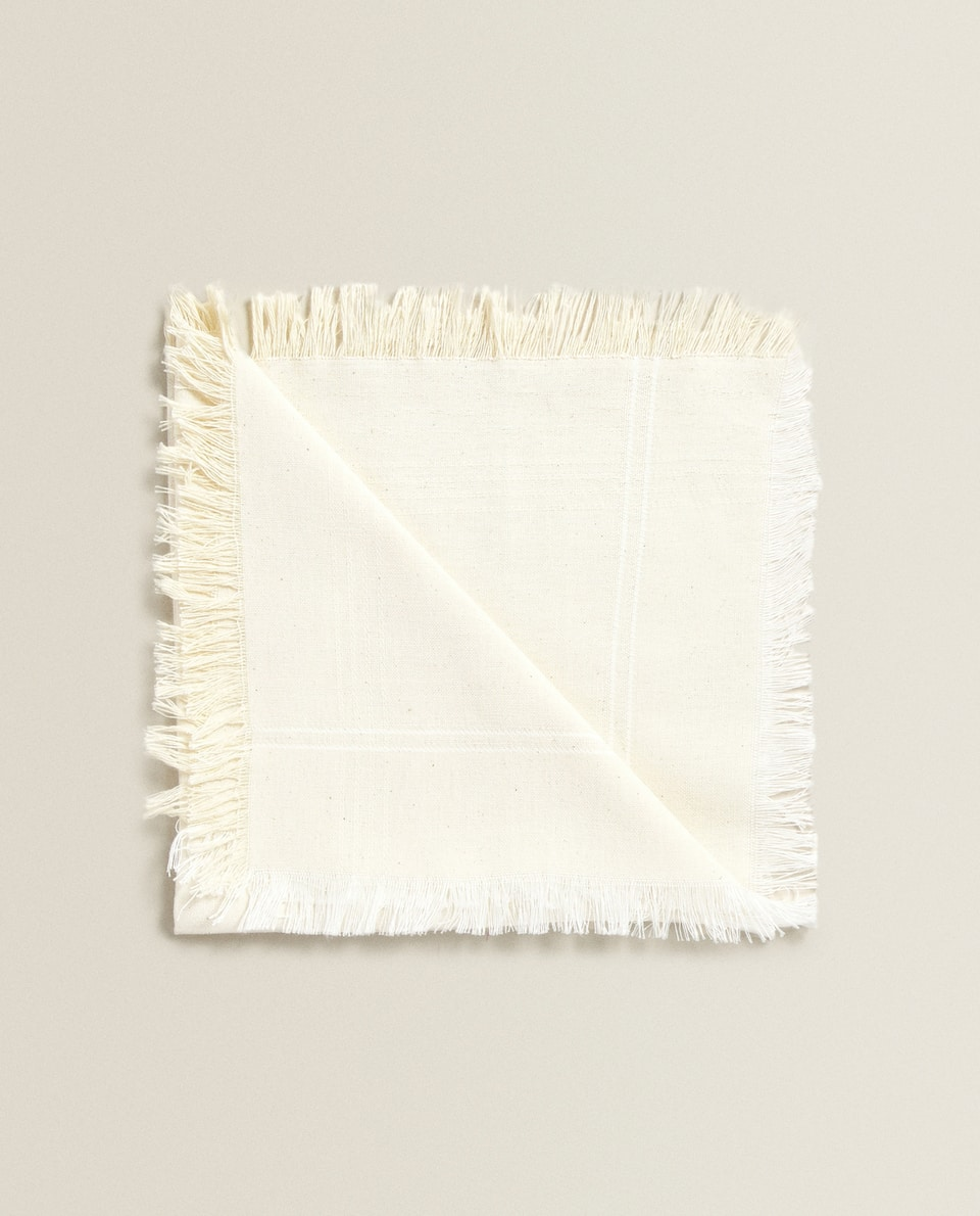 FRINGED COTTON NAPKIN