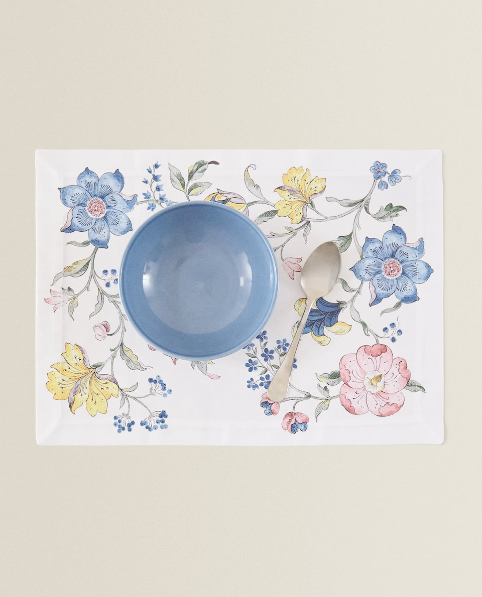 FLORAL DESIGN COTTON PLACEMAT (PACK OF 2)