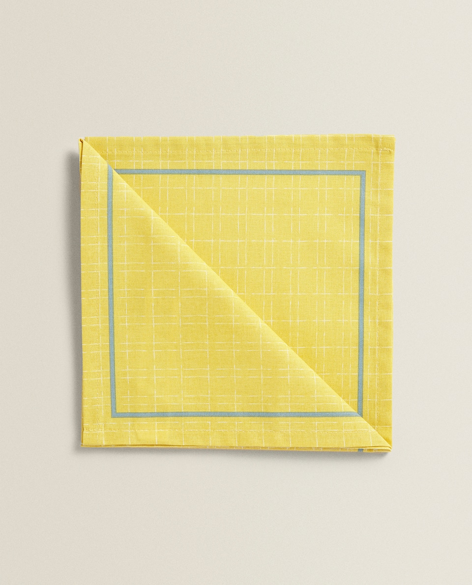 CHECK COTTON NAPKIN (PACK OF 2)