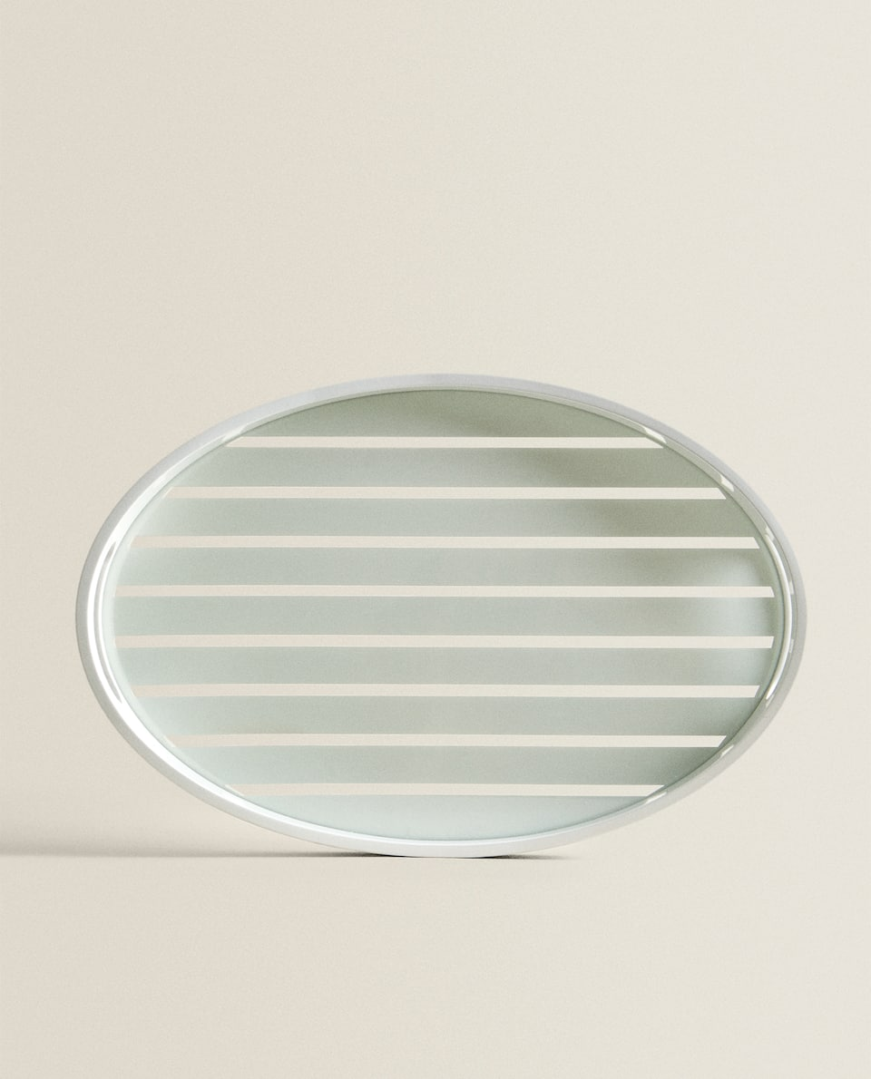 STRIPED ROUND TRAY