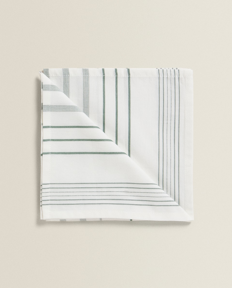 COTTON NAPKIN WITH IRREGULAR STRIPES (SET OF 2)