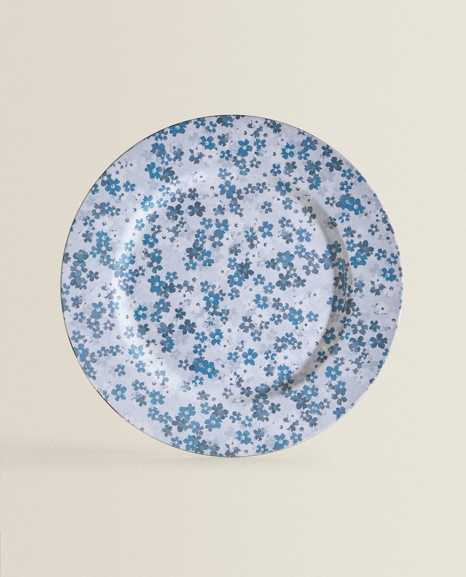 FLORAL PRINT CHARGER PLATE