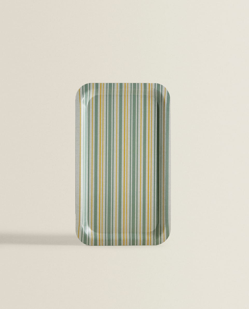 STRIPED TRAY