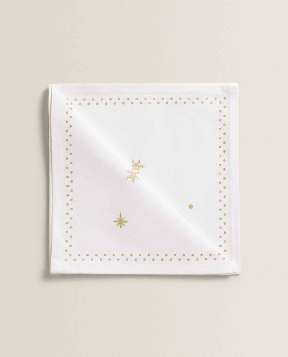 CHRISTMAS PRINT NAPKINS (PACK OF 2)