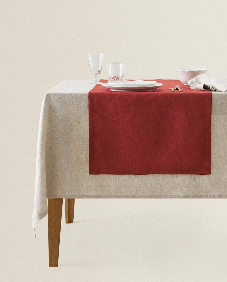 COTTON JACQUARD TABLE RUNNER