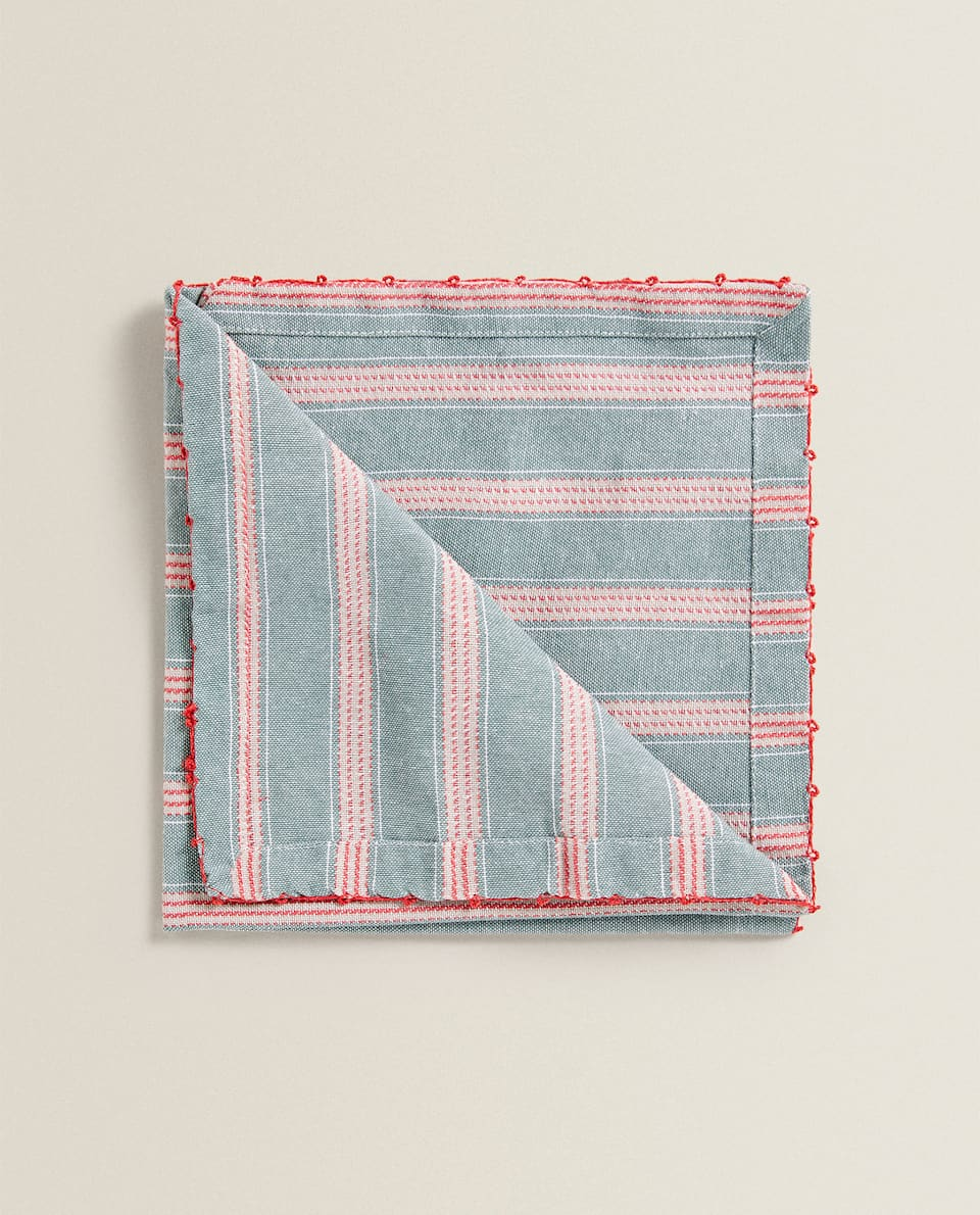 TOPSTITCHED COTTON NAPKIN (PACK OF 2)