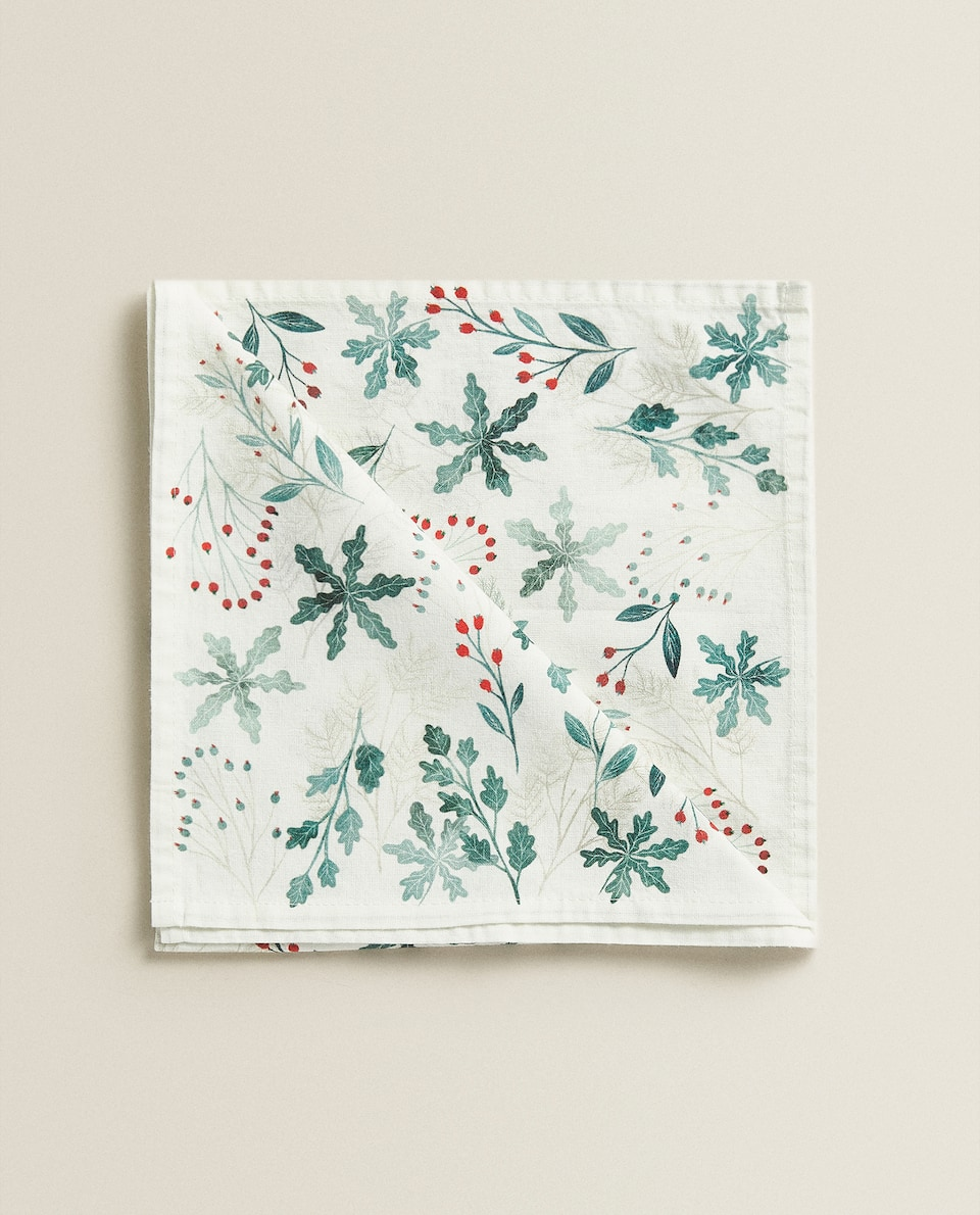 LEAF PRINT NAPKINS (PACK OF 2)