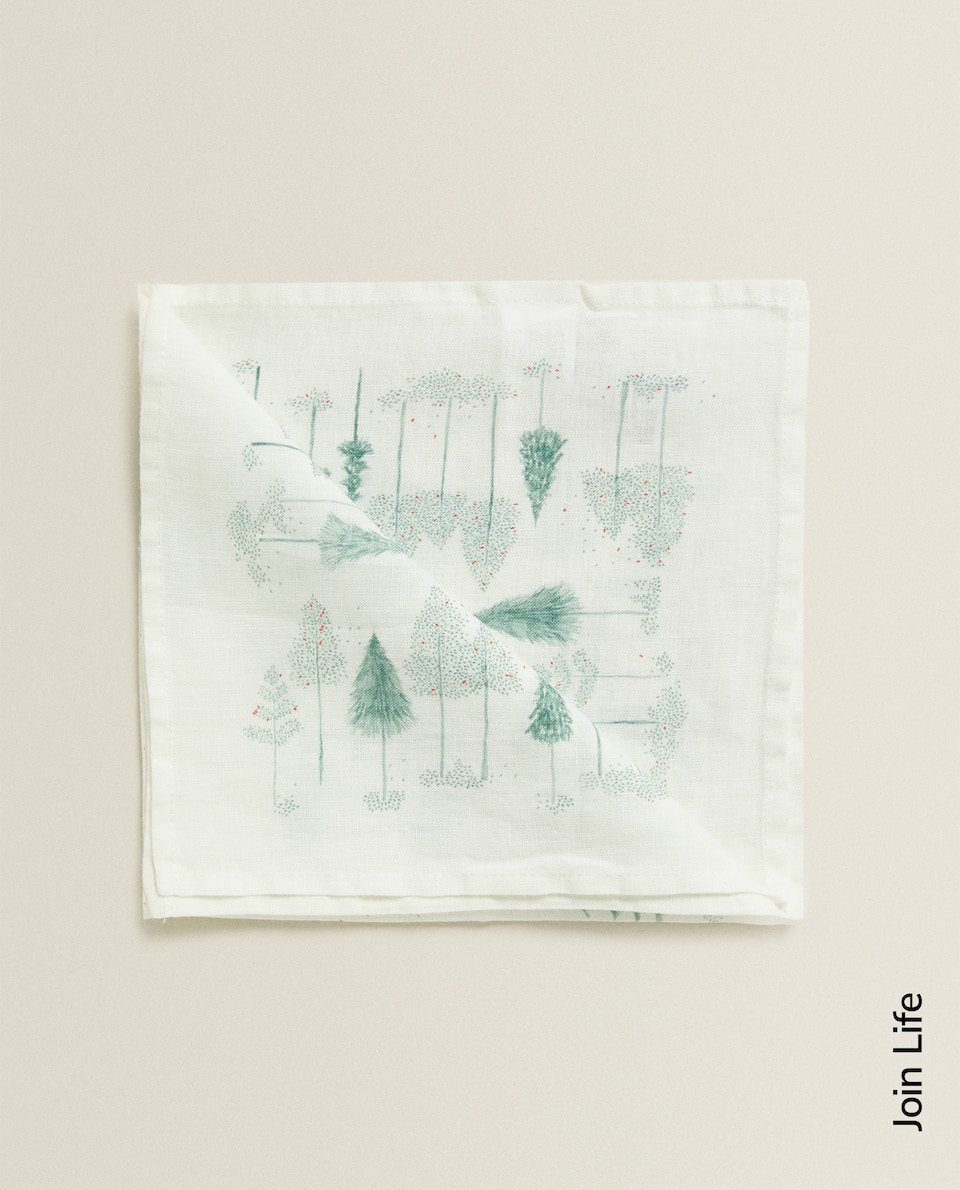 TREE PRINT LINEN NAPKIN (PACK OF 2)