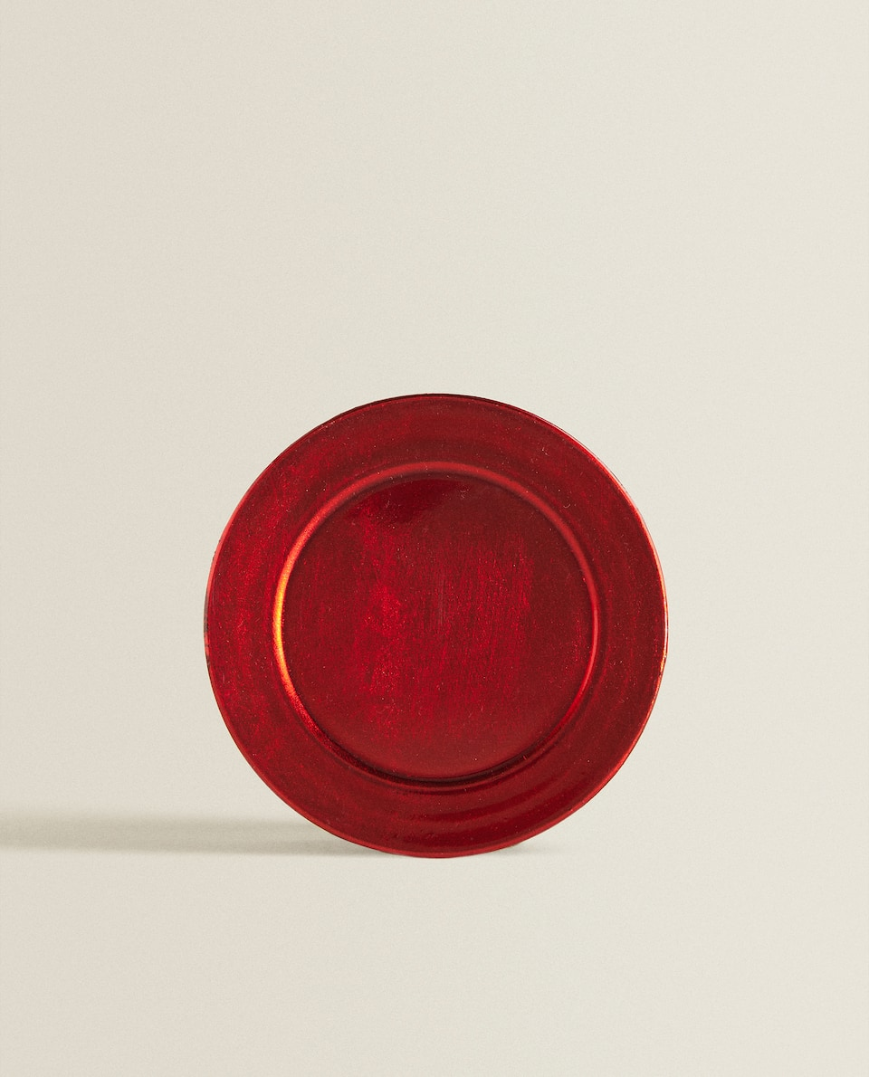 RED METALLIC SIDE PLATE