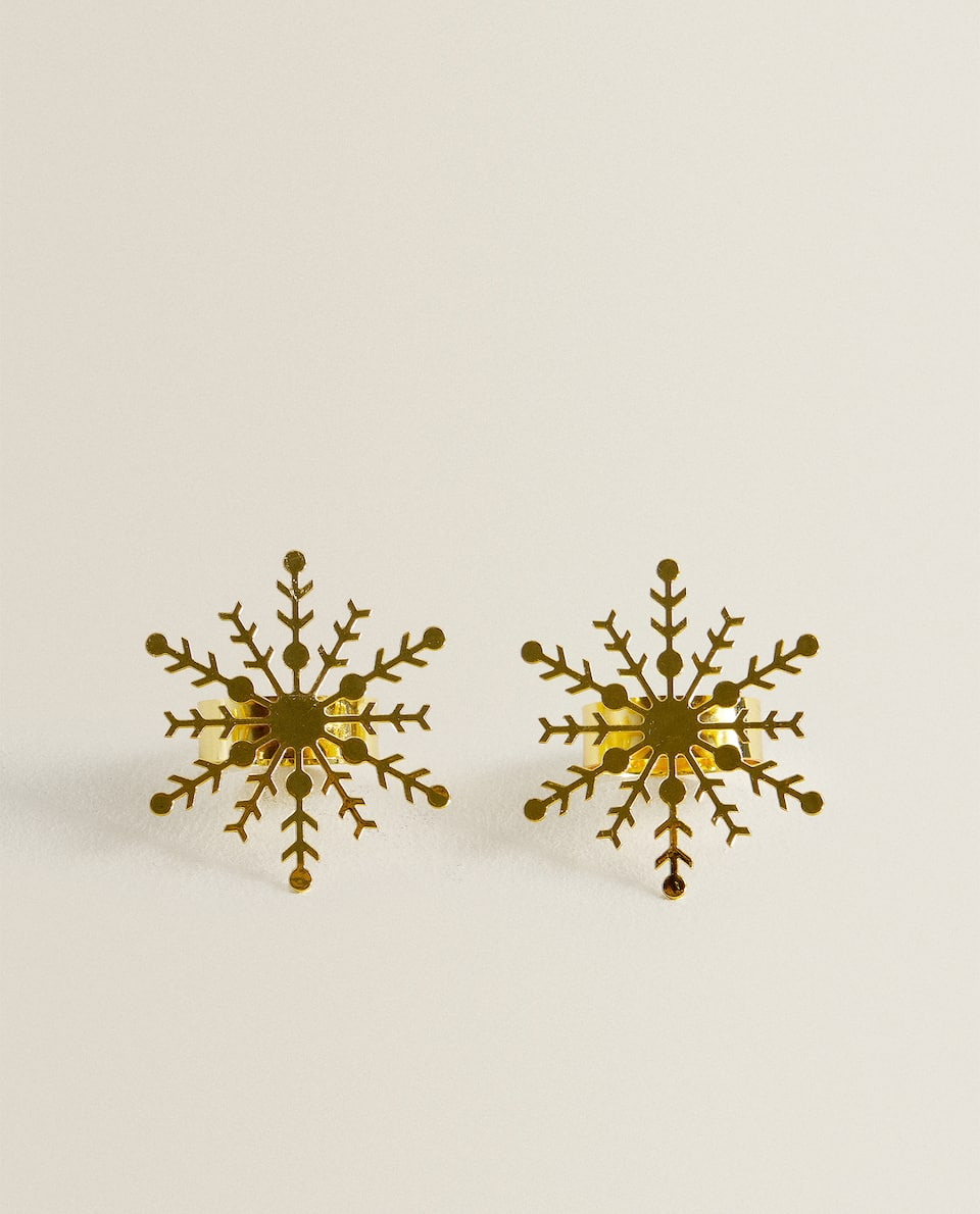 SNOWFLAKE NAPKIN RING (PACK OF 2)