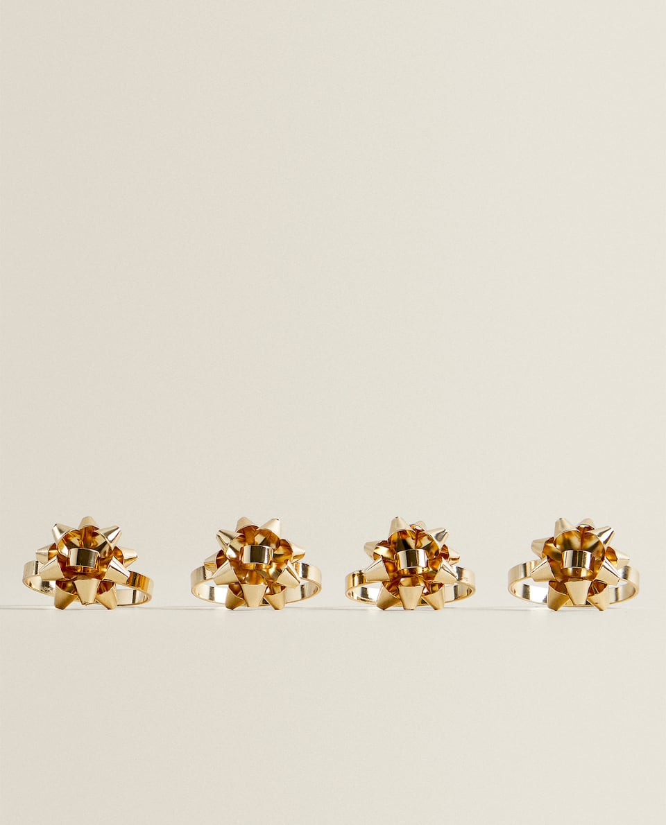 GOLDEN STAR NAPKIN RING (PACK OF 4)
