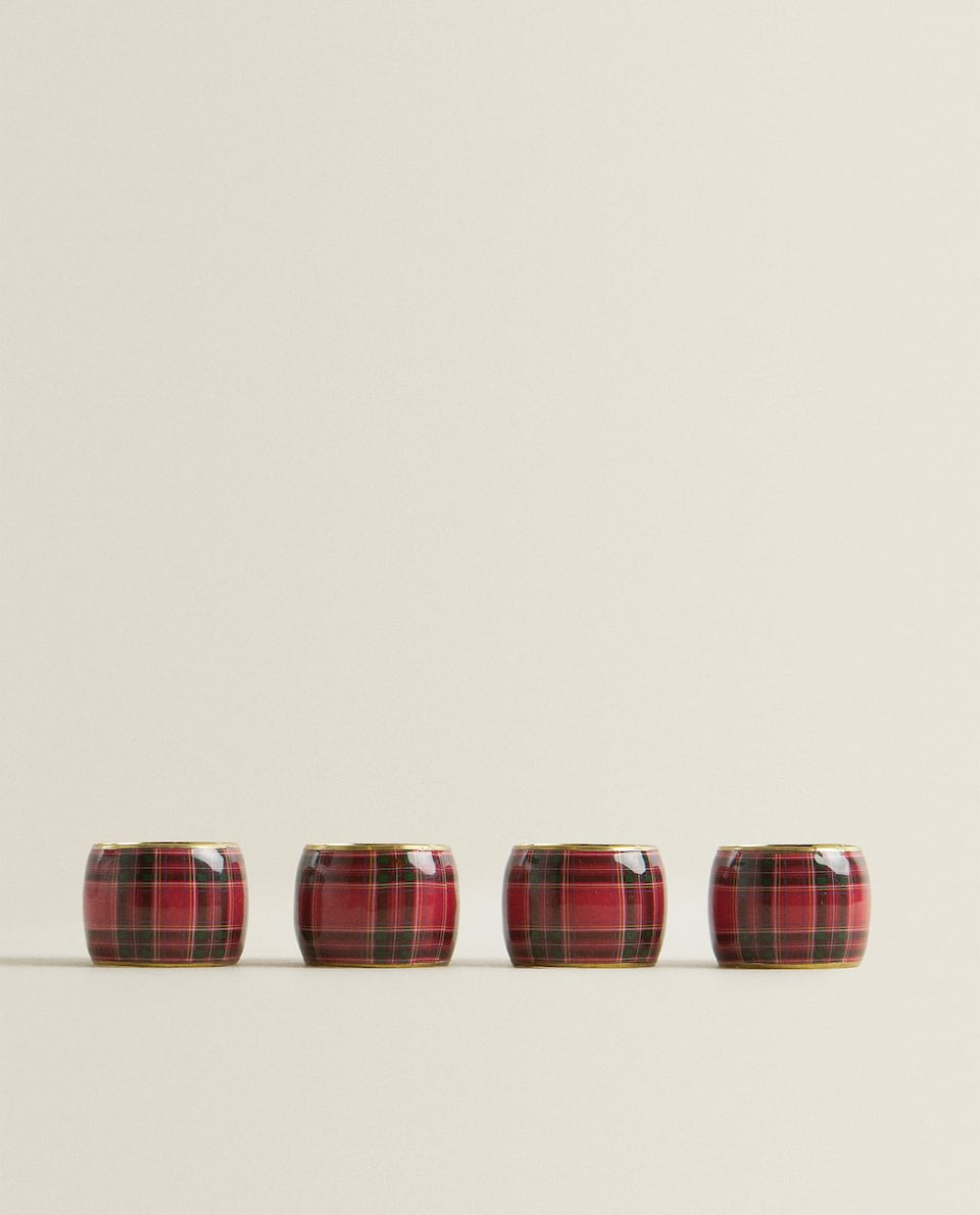 TARTAN NAPKIN RING (PACK OF 4)