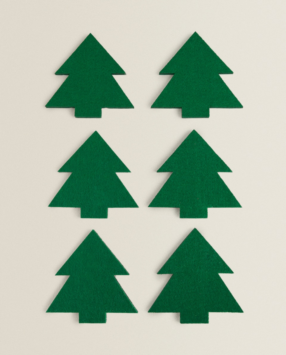 CHRISTMAS TREE COASTER (PACK OF 6)