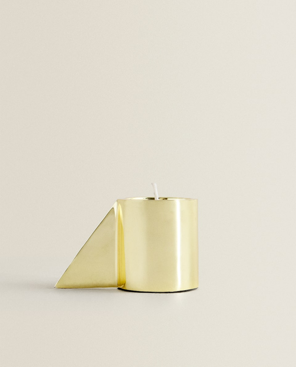 GOLDEN TEALIGHT HOLDER WITH HANDLE