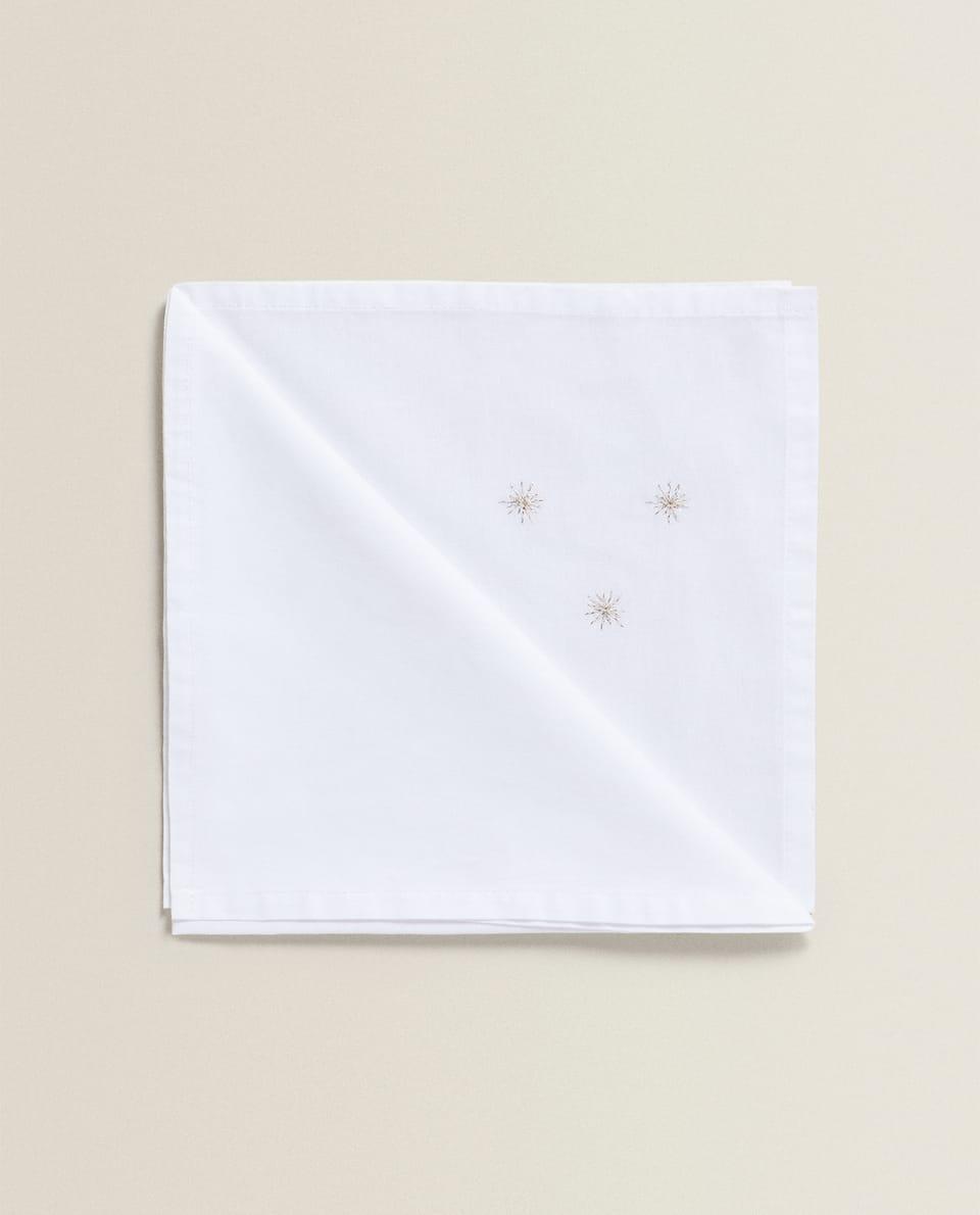 فوطة مائدة مع مطرزات النجوم (مجموعة من 2)
