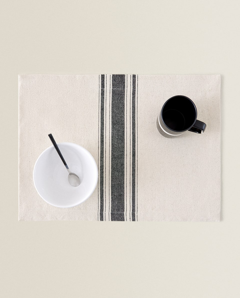 STRIPED COTTON PLACEMAT