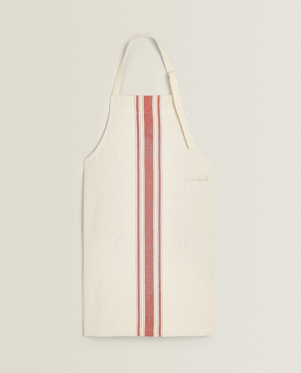 STRIPED CANVAS APRON