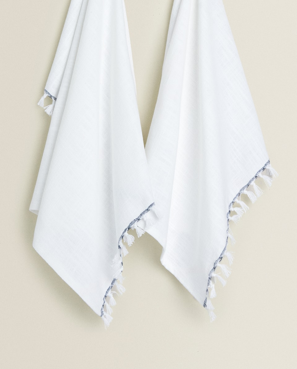 WASHED-EFFECT TEA TOWEL (PACK OF 2)