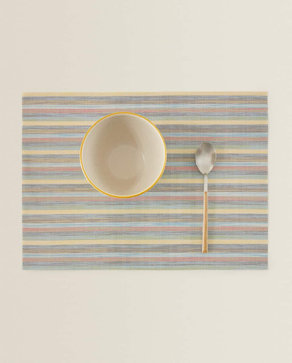MULTICOLOURED STRIPED PLACEMAT (PACK OF 2)
