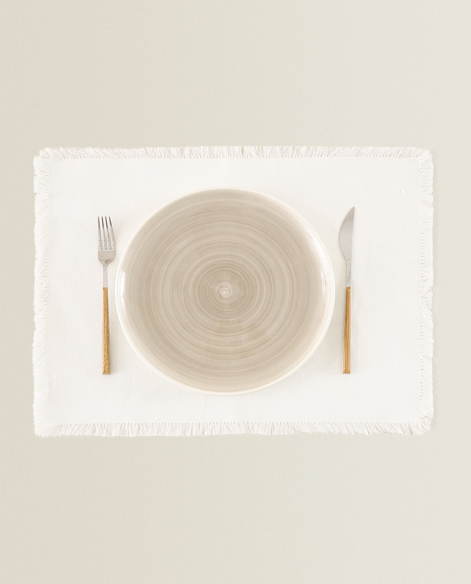 FRINGED PLACEMAT (PACK OF 2)