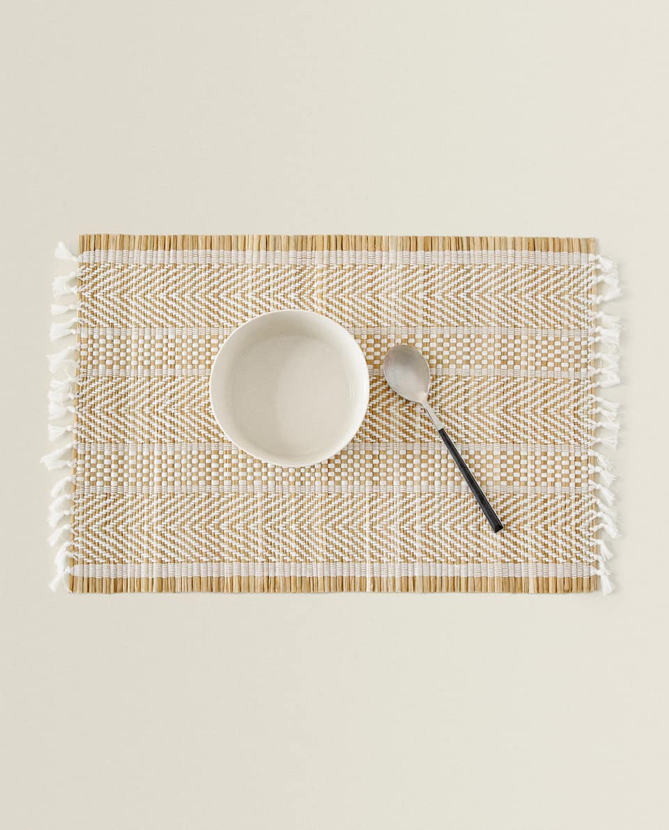 FIBRE AND COTTON PLACEMAT