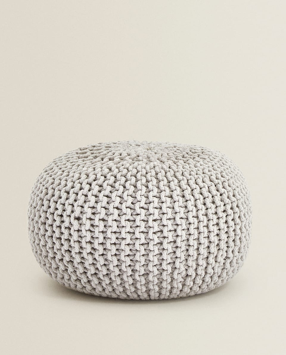 PLAITED POUFFE