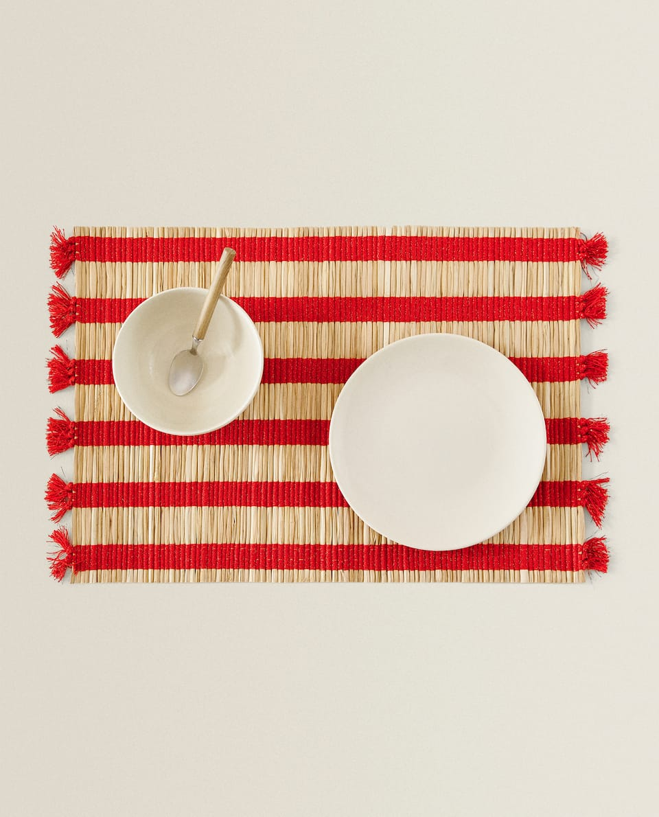 STRIPED FIBRE PLACEMAT (PACK OF 2)