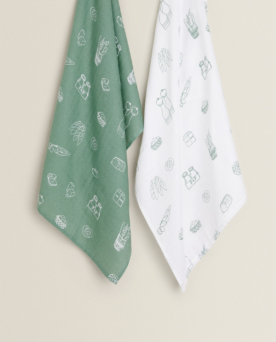 PRINTED COTTON MUSLIN CLOTH (PACK OF 2)