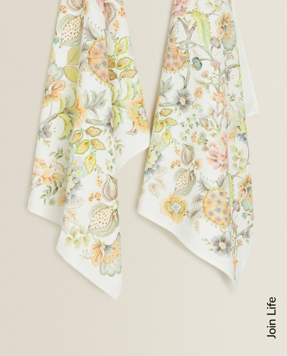 FLORAL TEA TOWEL (PACK OF 2)