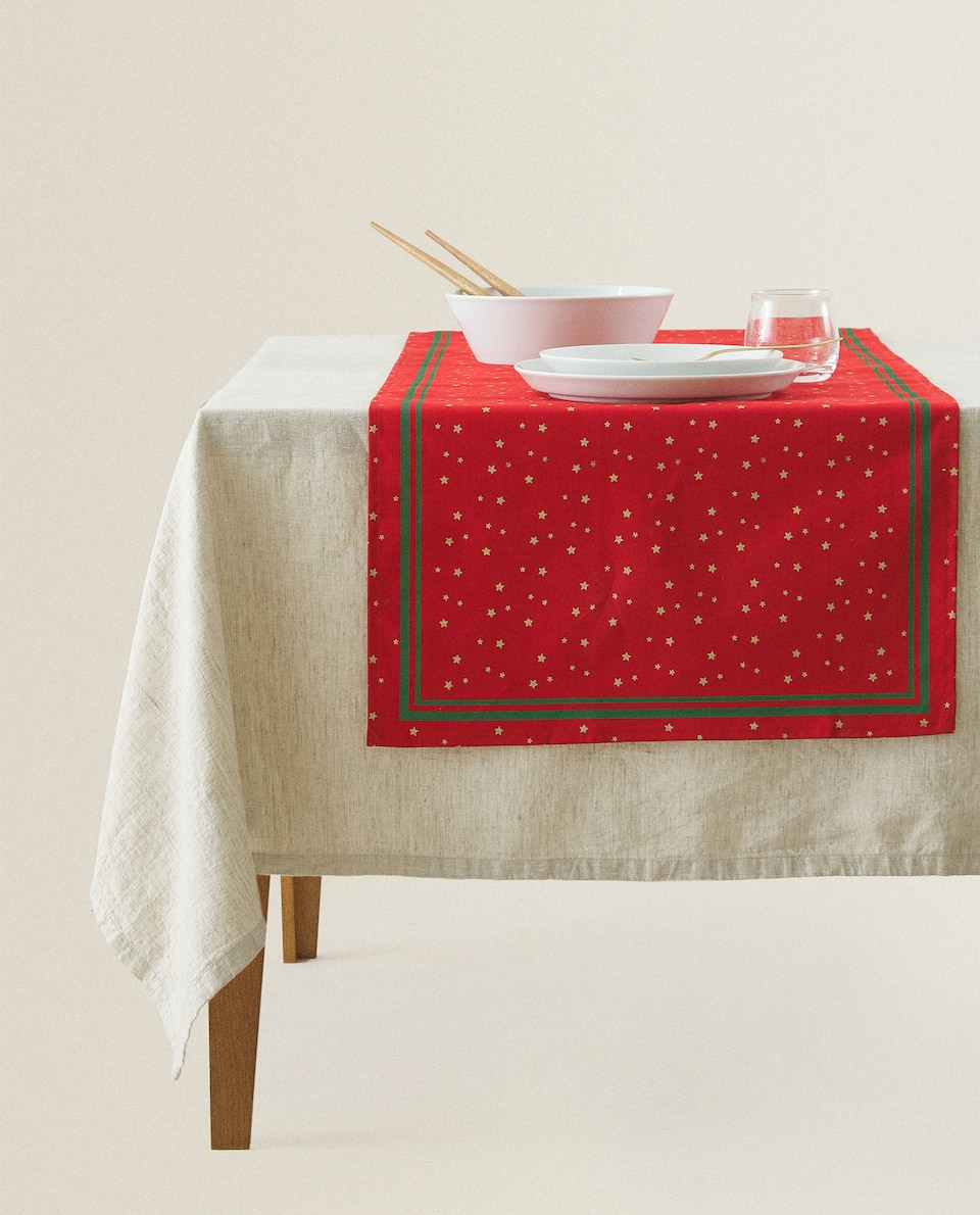 STAR COTTON TABLE RUNNER
