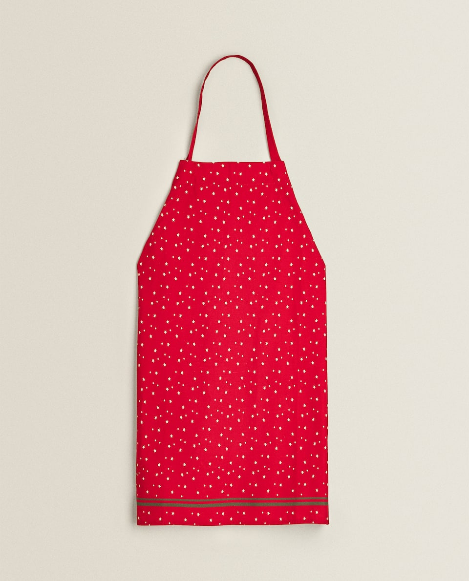 COTTON APRON WITH STARS