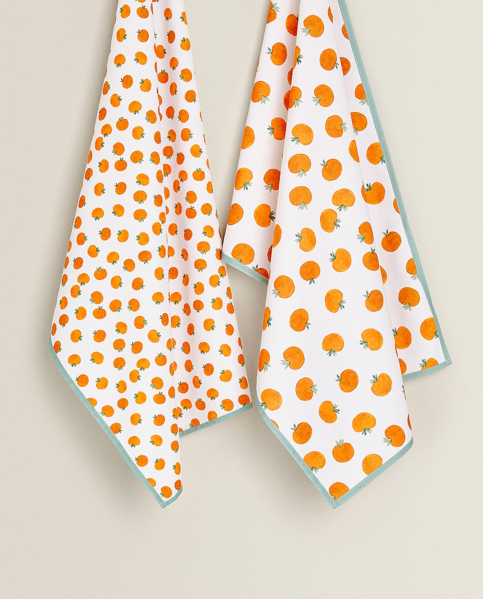 TEA TOWEL WITH TOMATO PRINT (PACK OF 2)