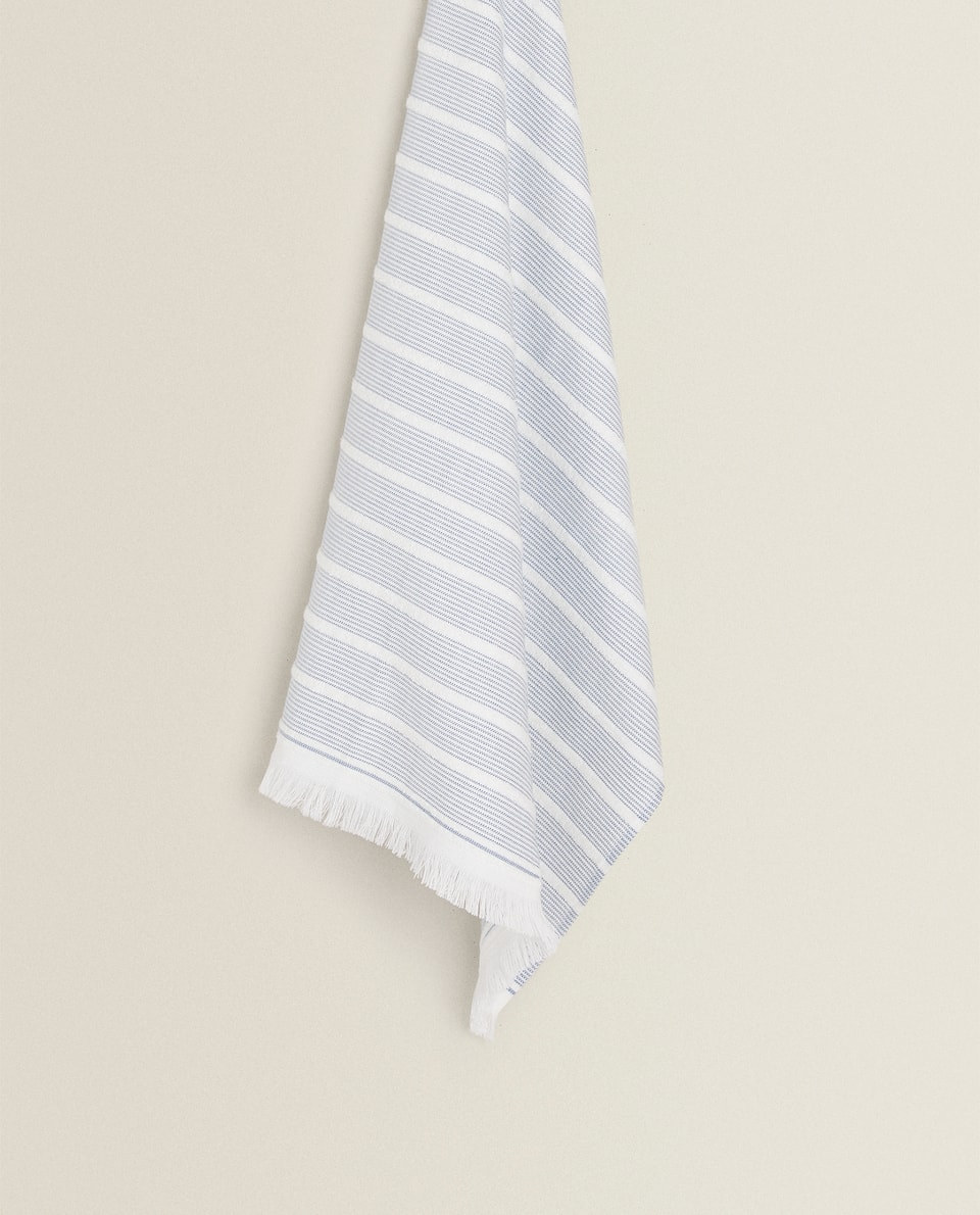FRINGED TERRYCLOTH TEA TOWEL