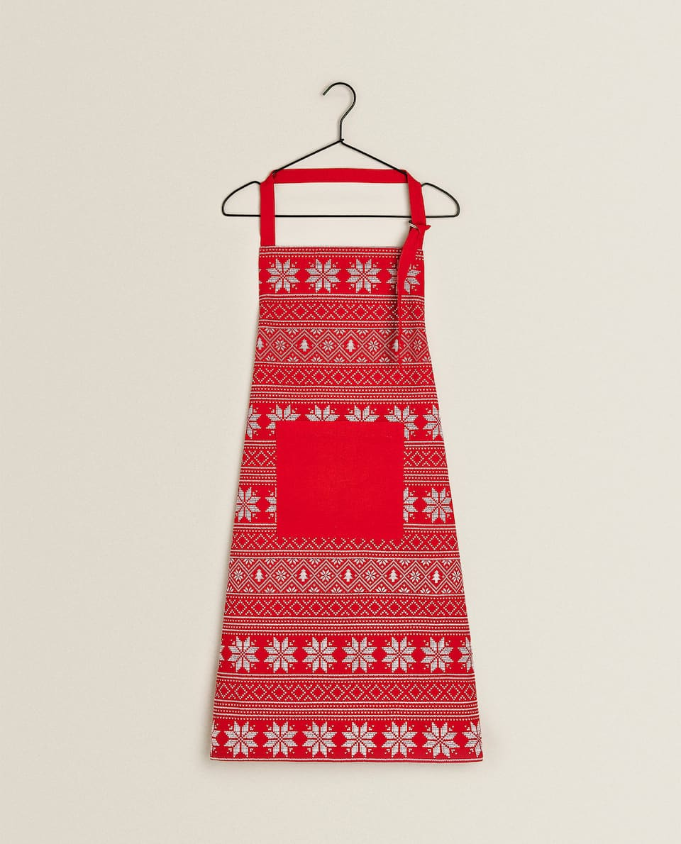 COTTON CHRISTMAS APRON