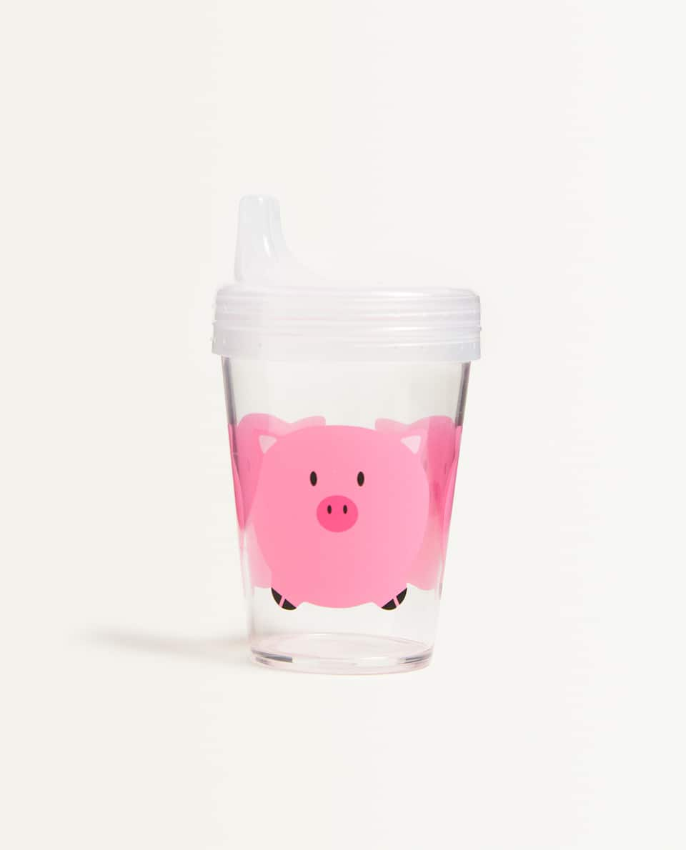 PIGGY CUP WITH LID