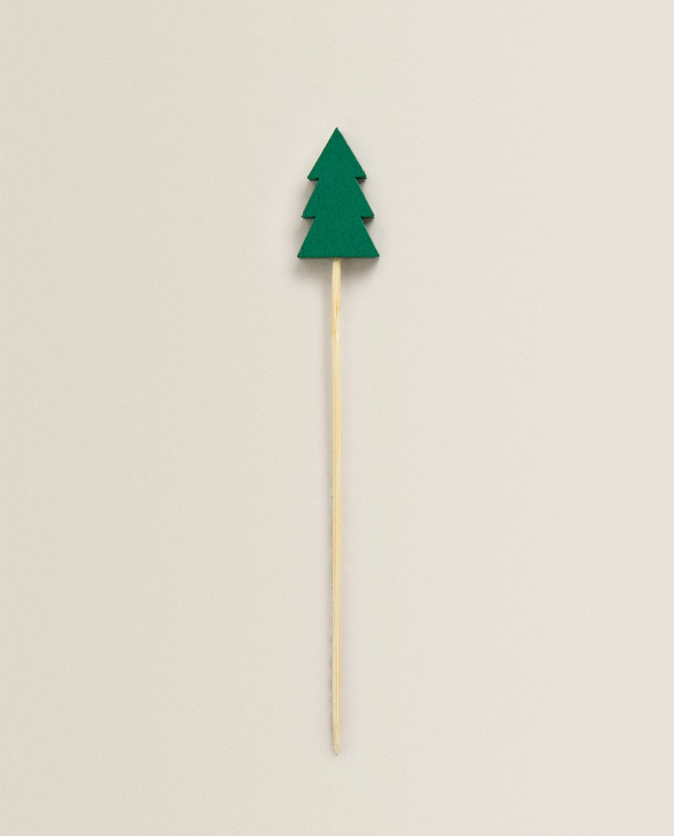 CHRISTMAS TREE COCKTAIL STICKS (PACK OF 10)