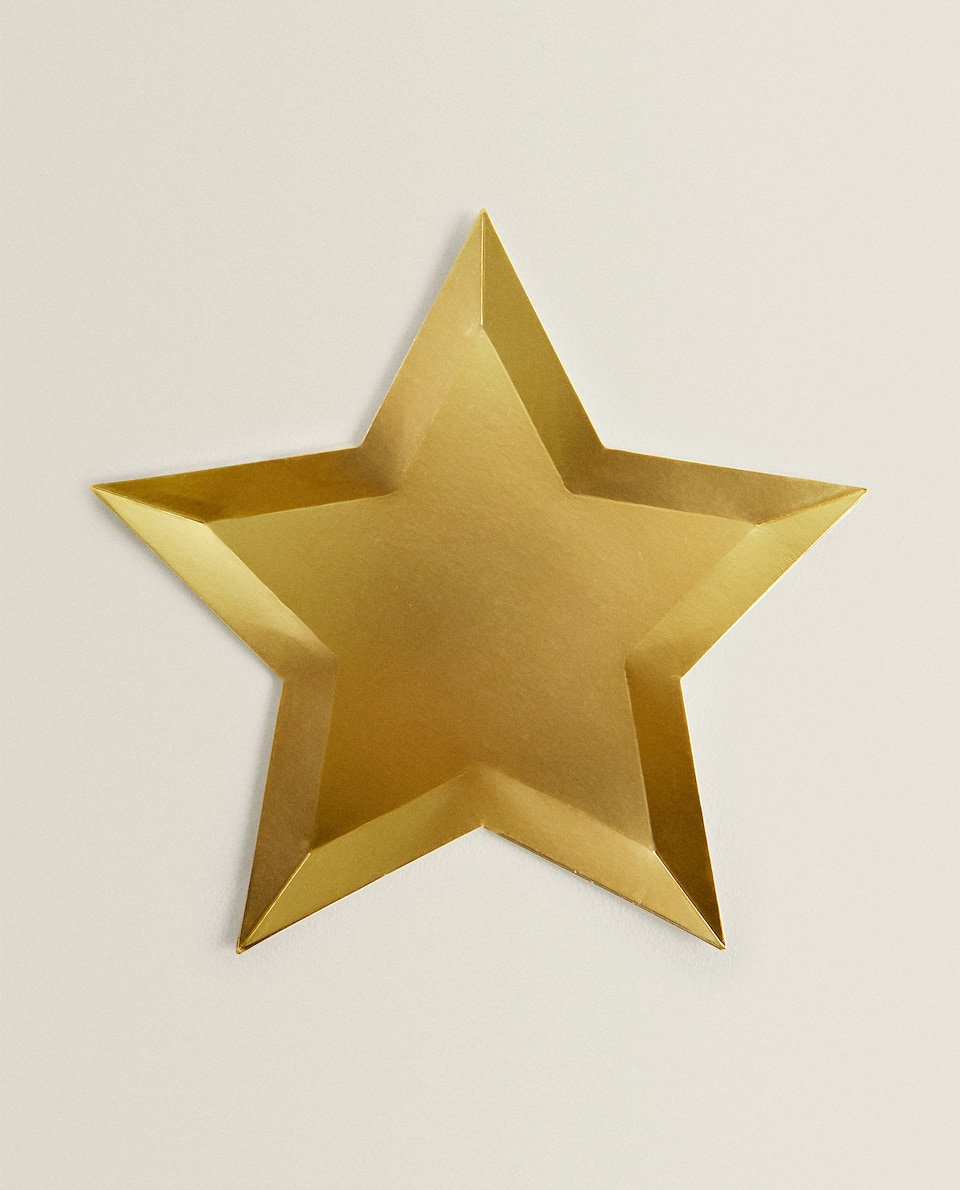 STAR-SHAPED PAPER PLATES (PACK OF 12)