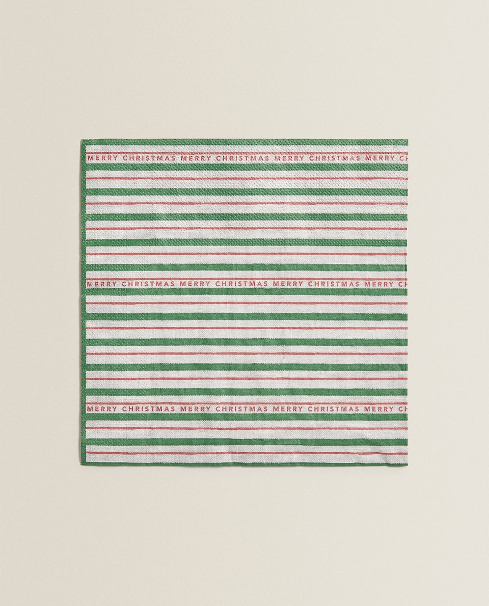 STRIPED PAPER NAPKIN (PACK OF 20)