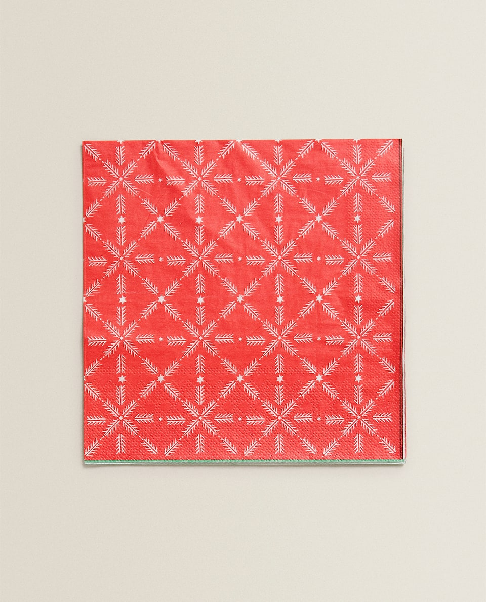 STAR DESIGN NAPKIN (PACK OF 20)