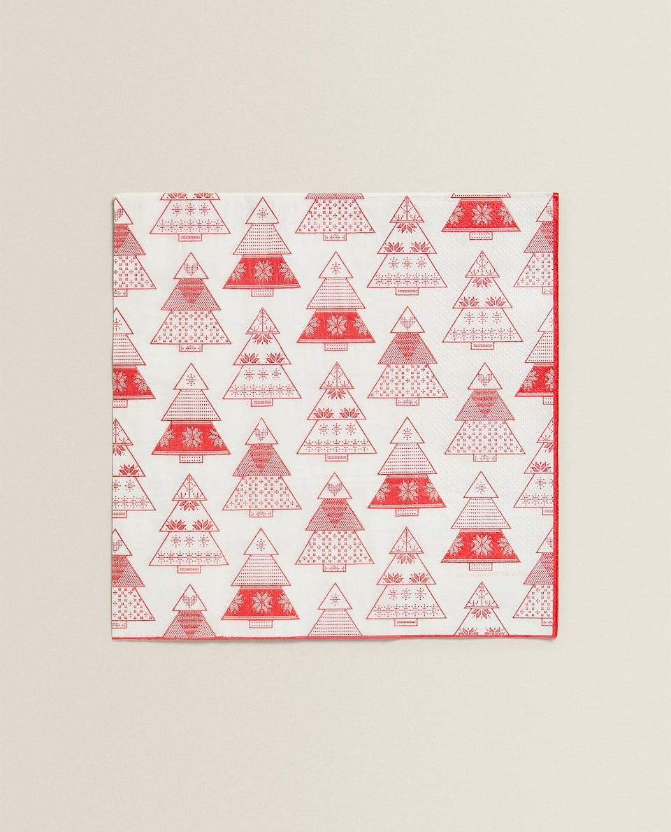 CHRISTMAS TREE NAPKIN (PACK OF 20)