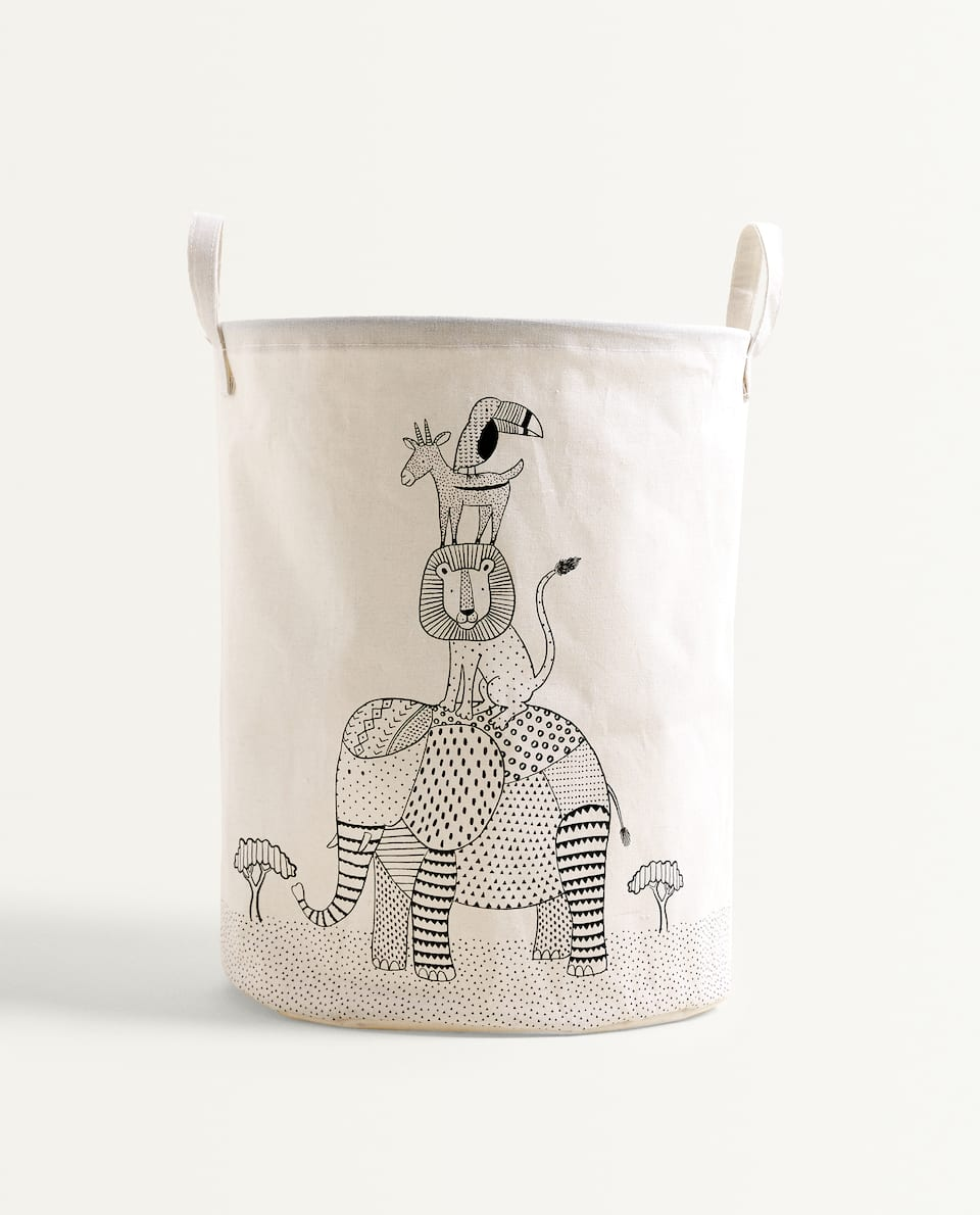 ANIMAL CLOTHES BASKET