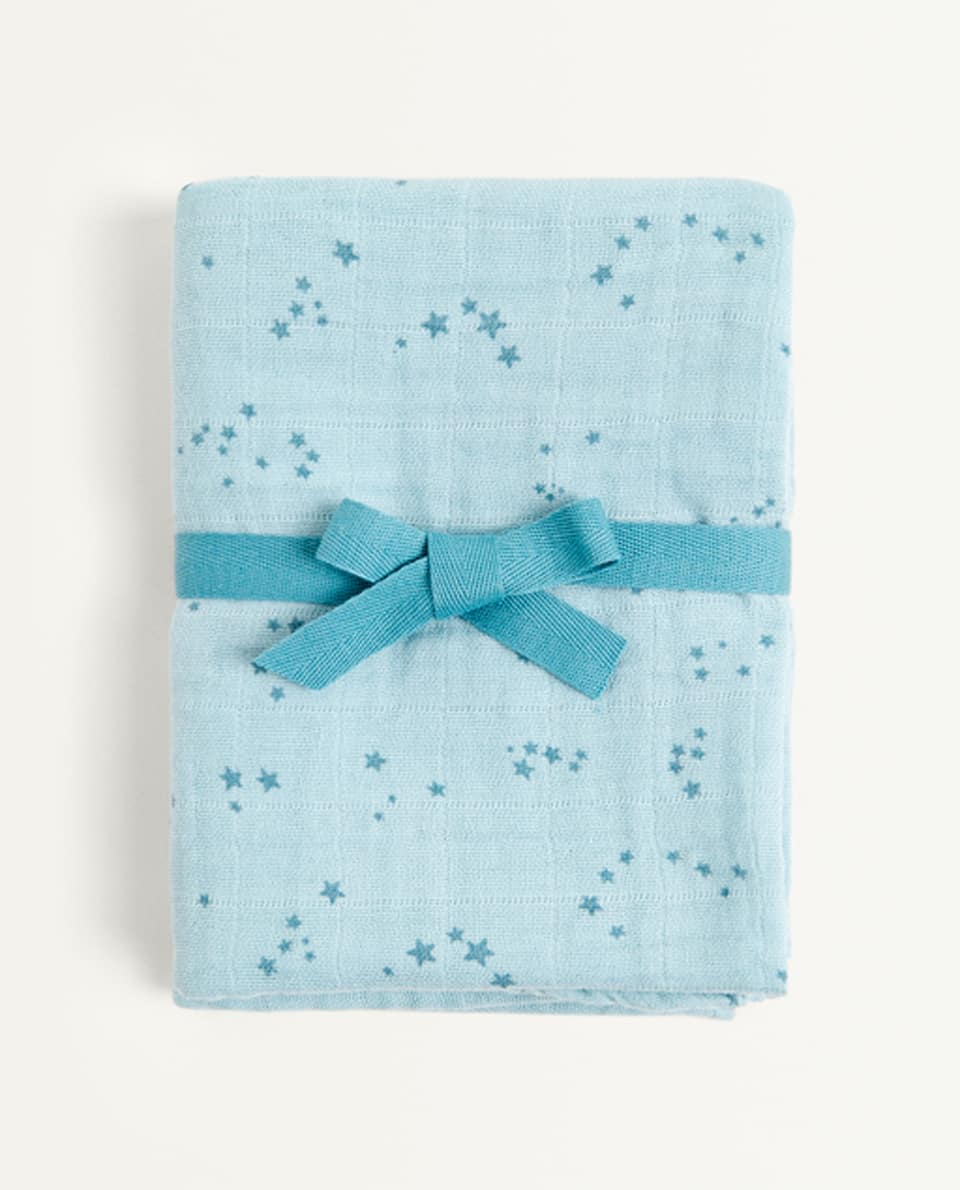 STAR PRINT MUSLIN (PACK OF 2)