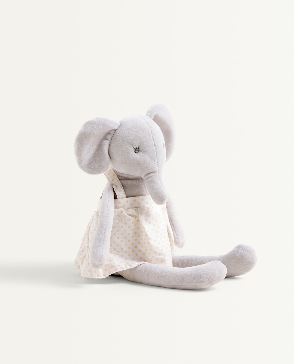 ELEPHANT SOFT TOY IN DRESS
