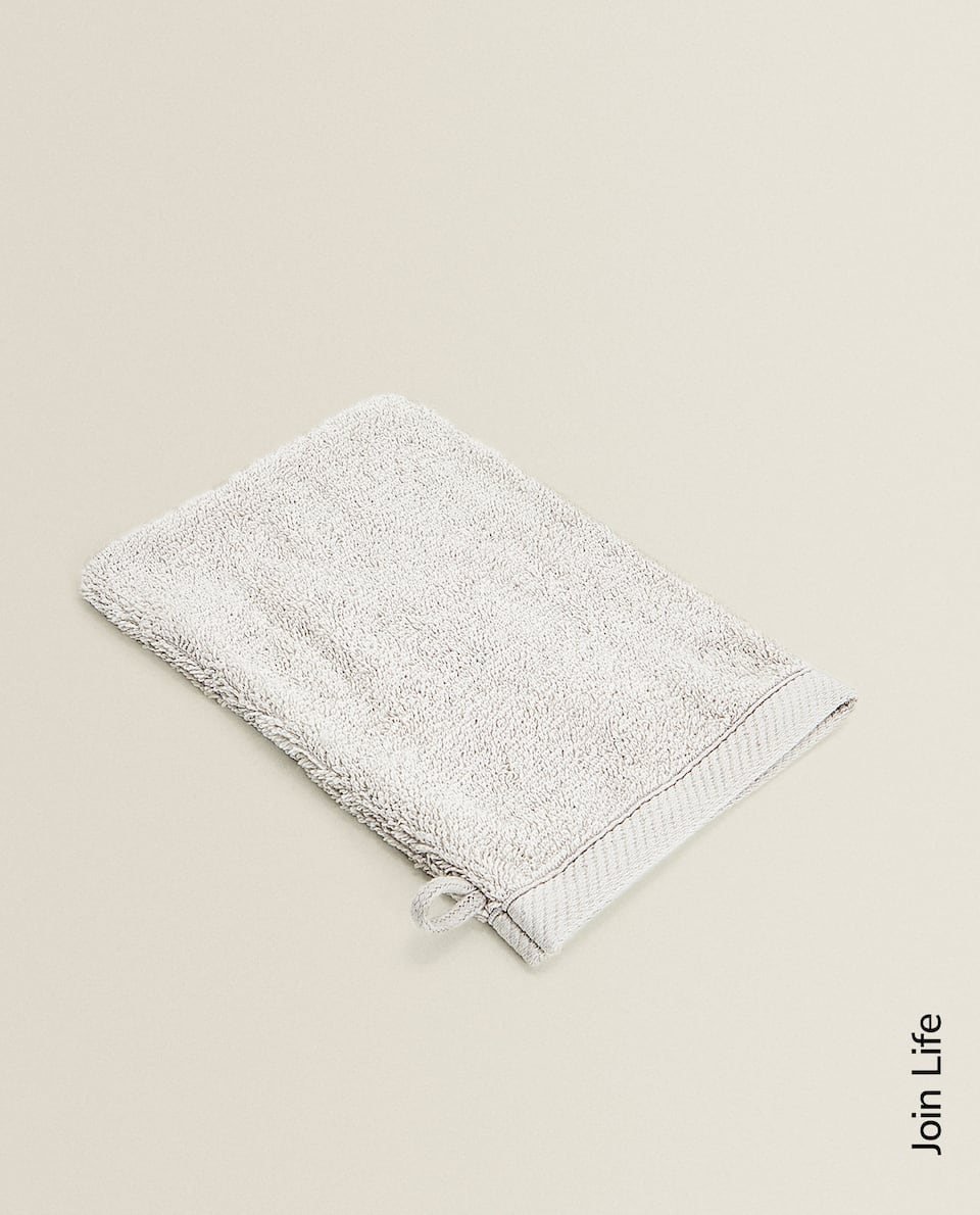 COTTON TERRY BATH MITT