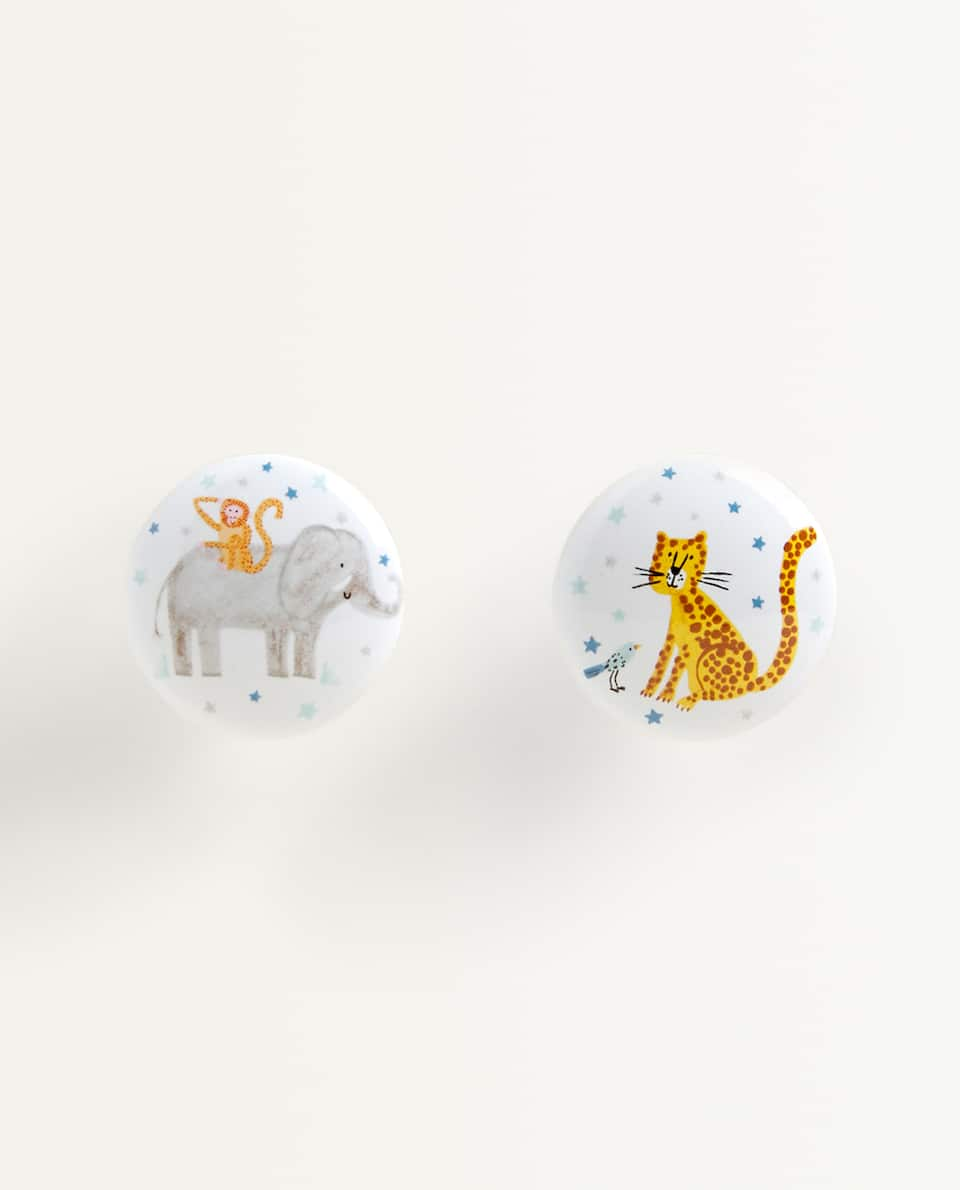 ANIMAL-SHAPED KIDS DOOR KNOB (PACK OF 2)
