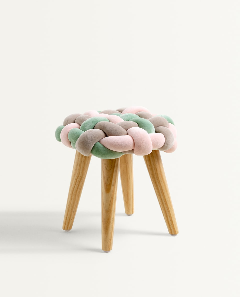 KIDS BRAIDED STOOL