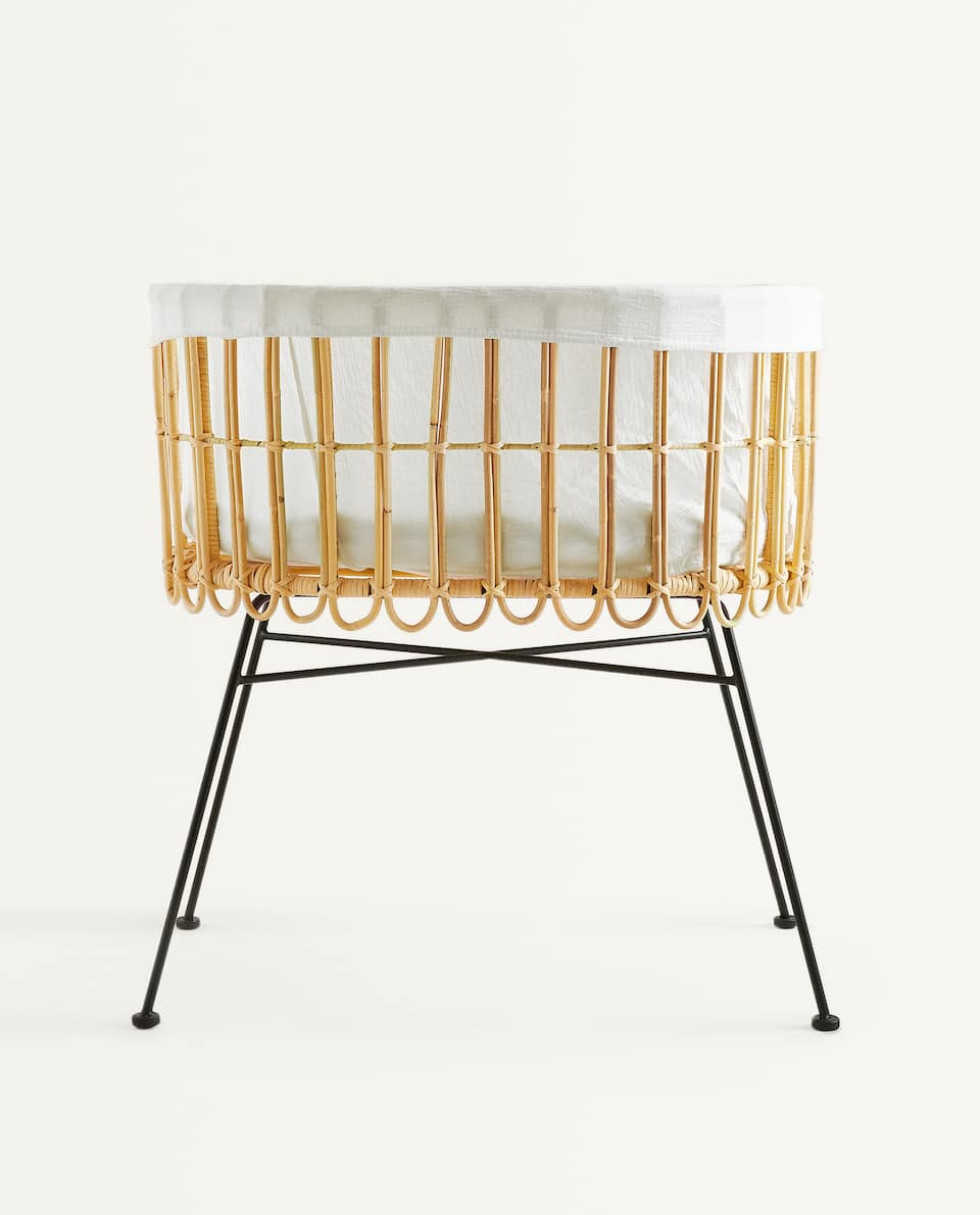 RATTAN BABY MOSES BASKET