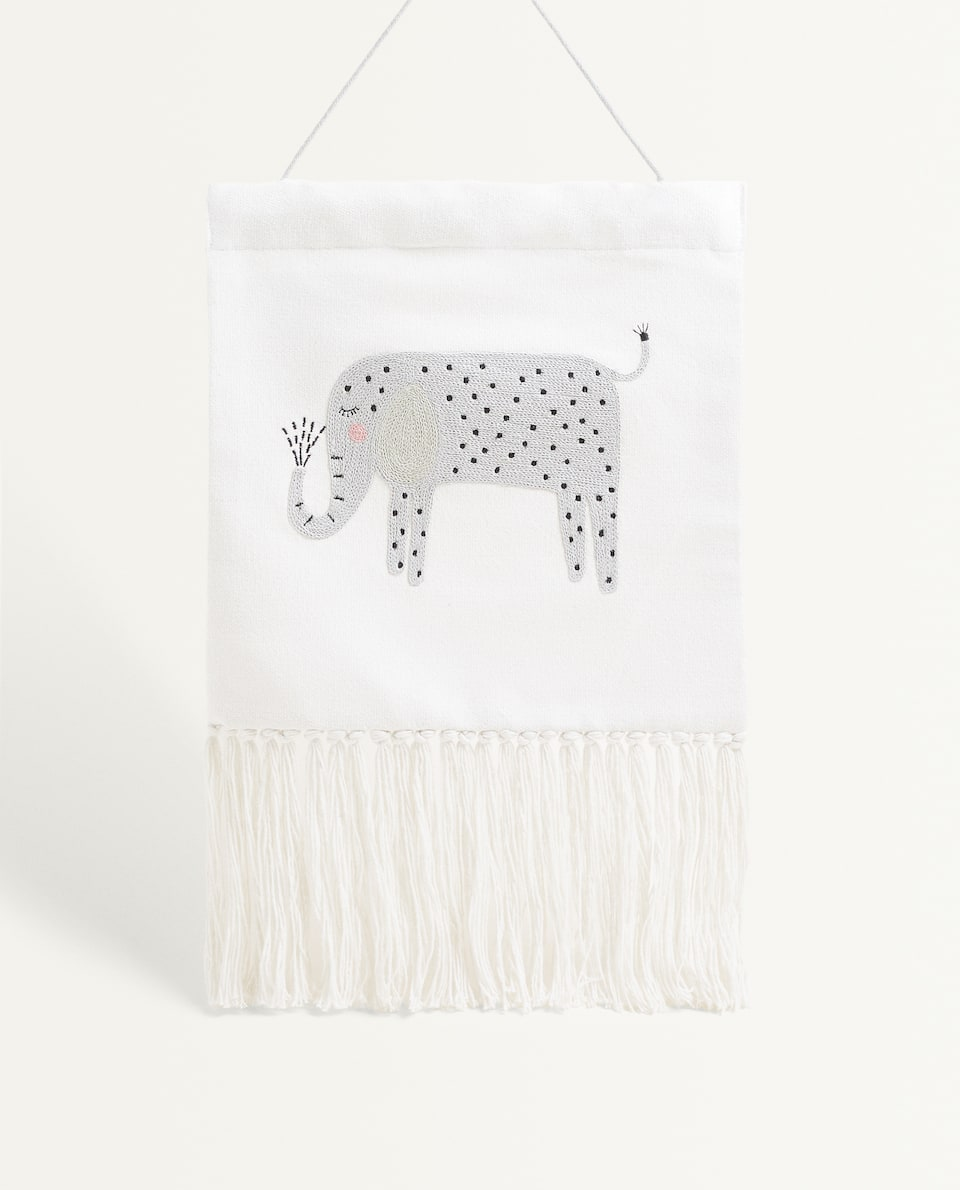 ELEPHANT WALL HANGING WITH FRINGING