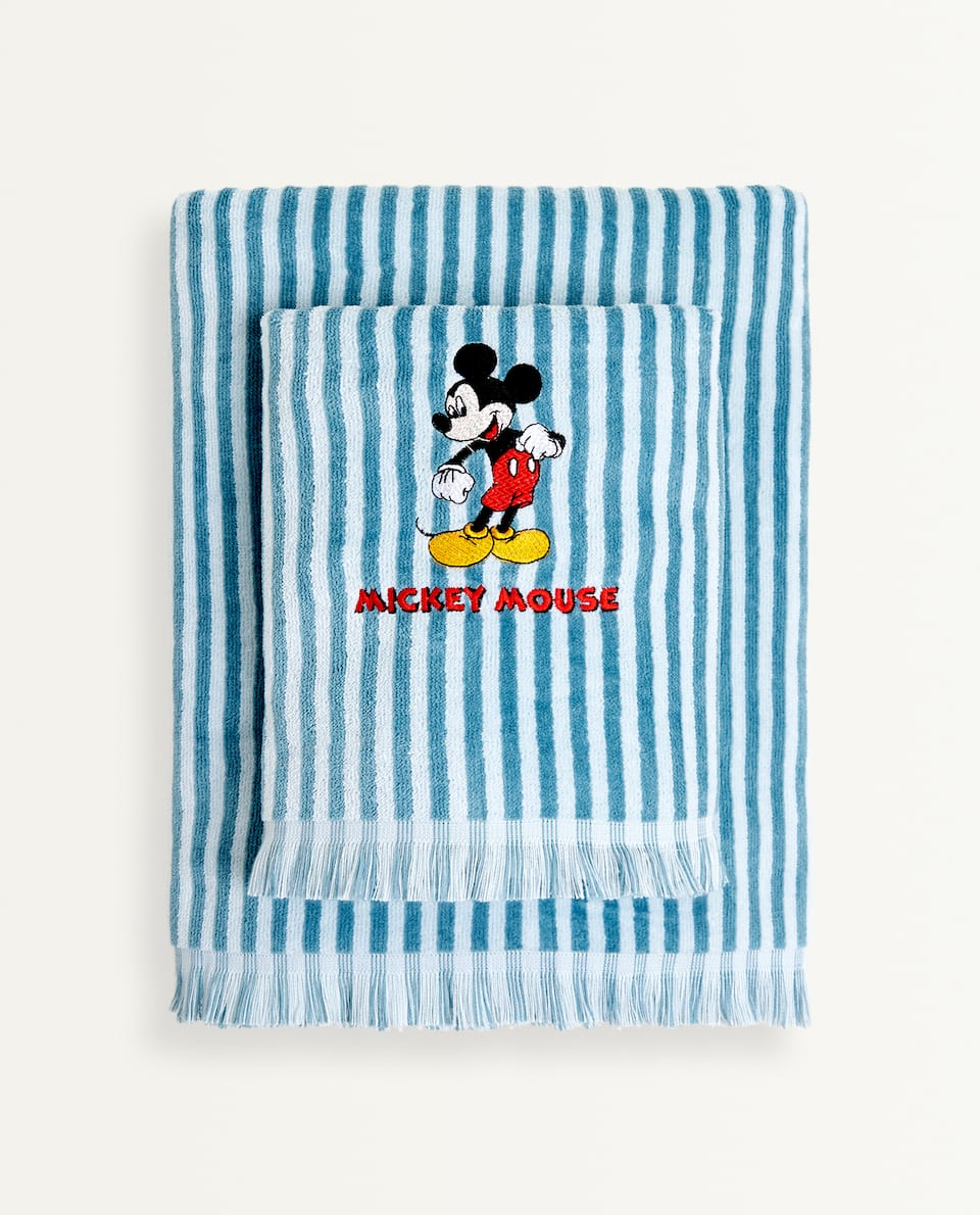 STRIPED MICKEY MOUSE TOWEL
