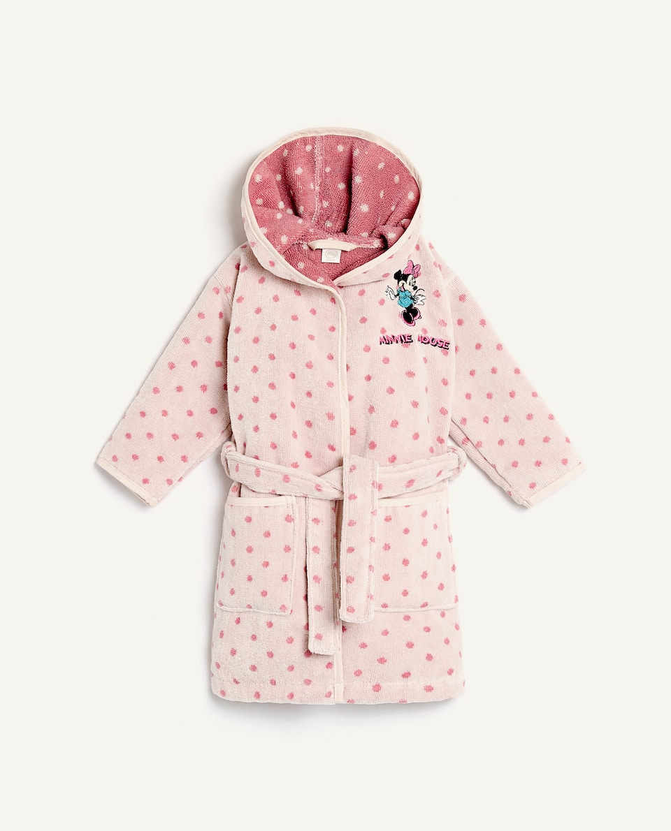 MINNIE MOUSE POLKA DOT BATHROBE